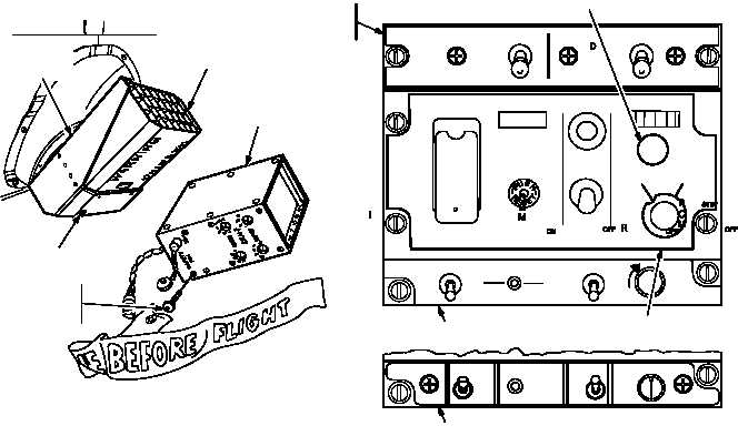 radar countermeasures set control panel