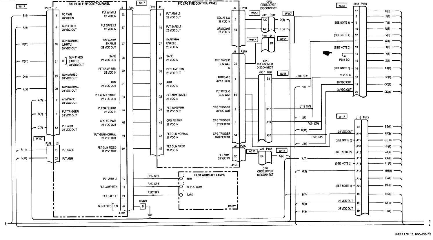 sheet 7 of 13 m50