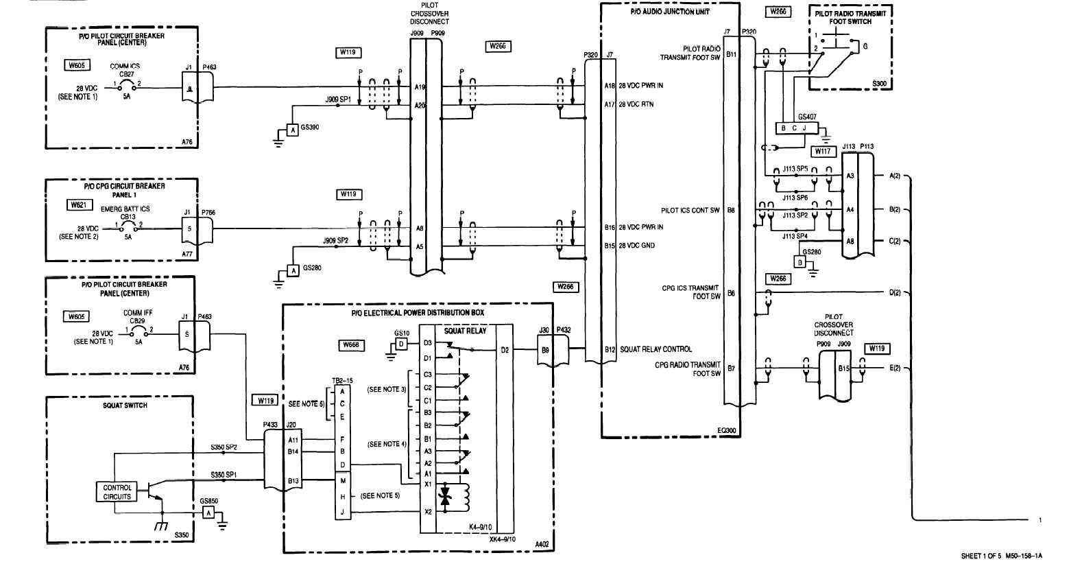 sheet 1 of 5 m50 -158