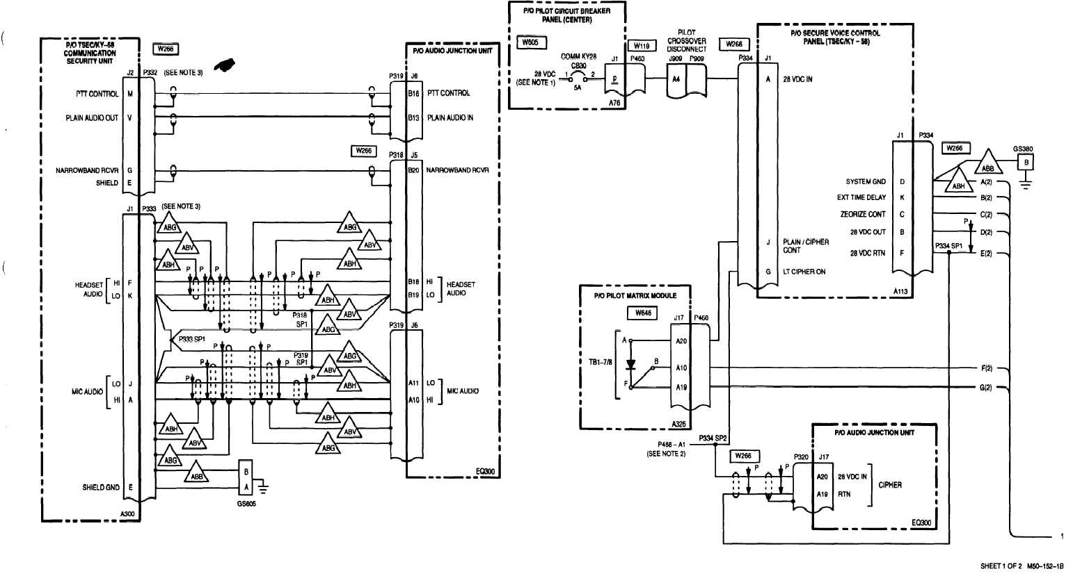 TSEC/KY-58 COMMUNICATION SECURlTY EQUIPMENT - WIRING DIAGRAM 6-2 Change 6  6-7