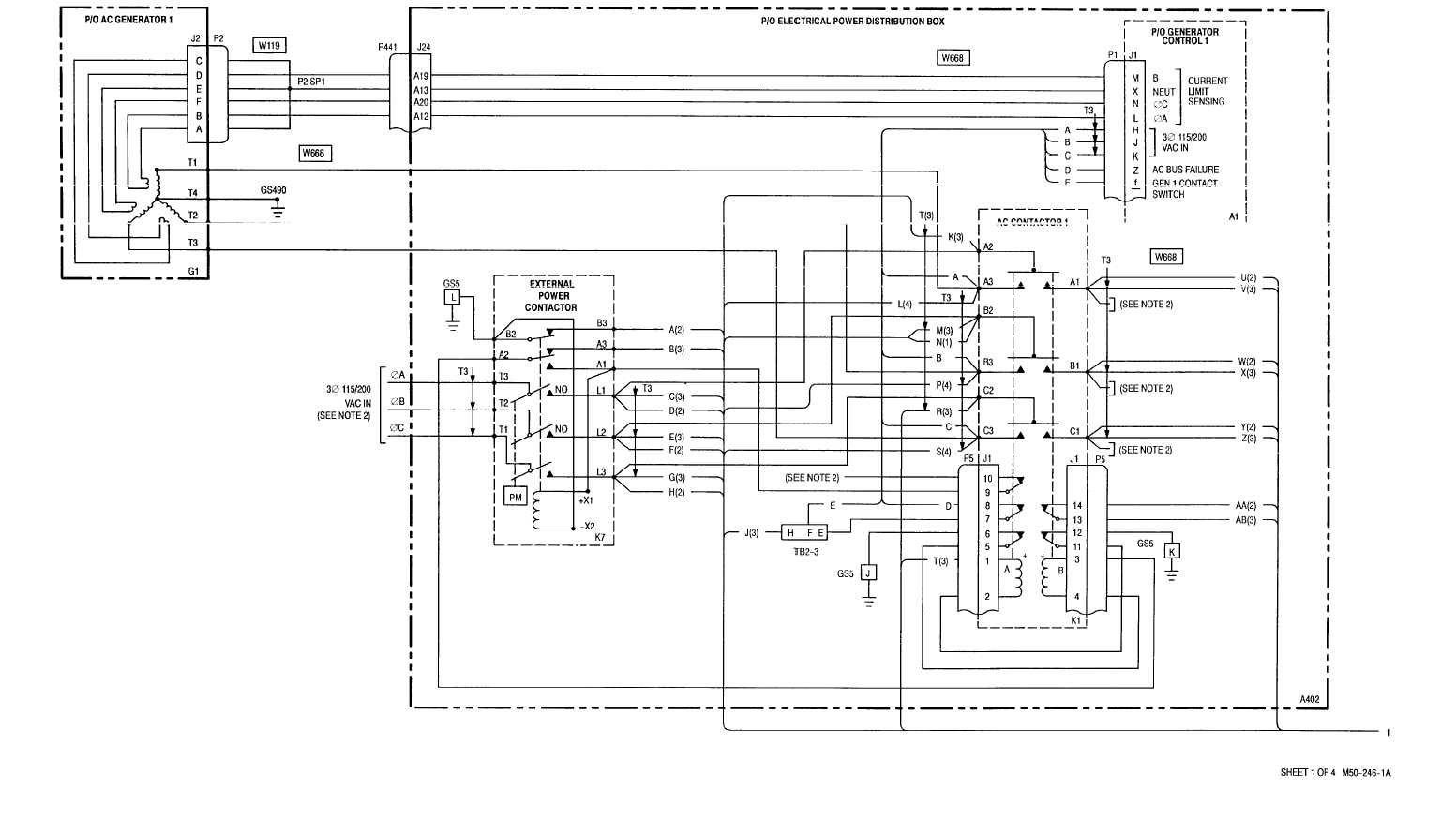 AC ELECTRICAL POWER GENERATION - WIRING DIAGRAM 9–1 9–3
