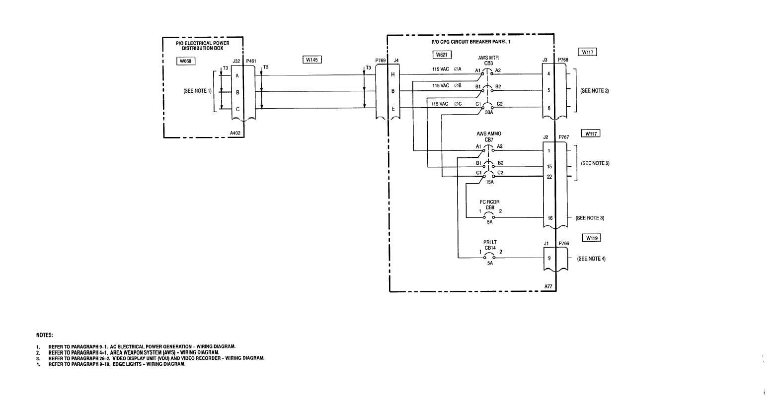 TM -1-1520-238-T-10 9-8 9-8. CIRCUIT PROTECTION (AC ESSENTIAL BUS 2 – CPG  STATION) – WIRING DIAGRAM SHEET 1 OF 1 M50-207A 9–1 8