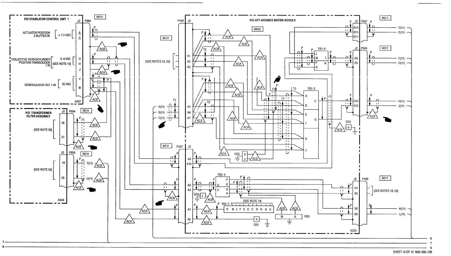 12-4  stabilator - wiring diagram  cont