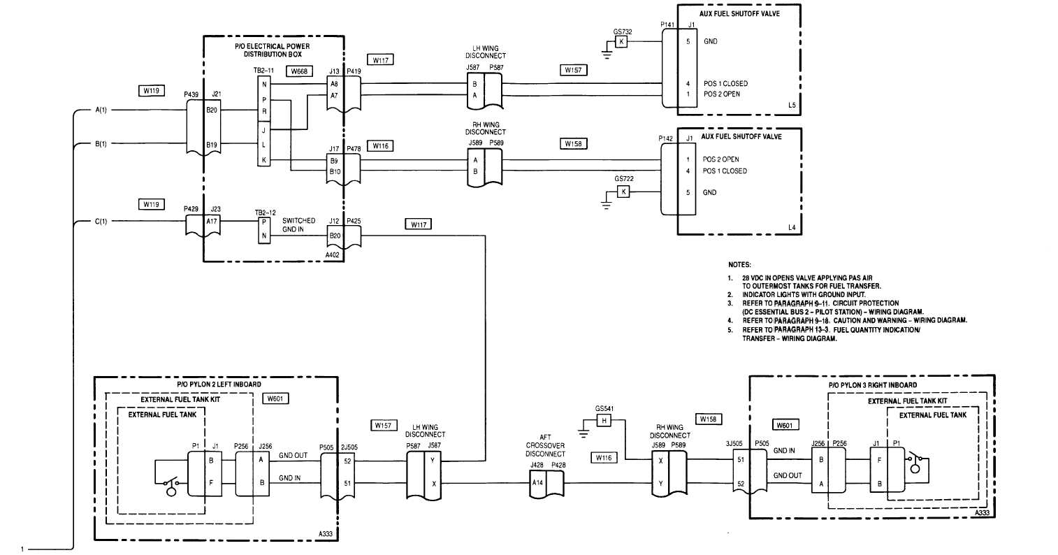 13 1 Auxiliary Fuel Wiring Diagram Cont Warning Indicator Light Paragraph 9 18 3 Tm 1520 238 T 10 Sheet 2 Of M50 231 2a