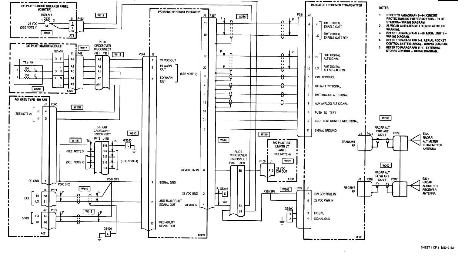 [DIAGRAM_1JK]  20-5. RADAR ALTIMETER (RADALT) SET - WIRING DIAGRAM | Altimeter Wiring Diagram |  | Integrated Publishing