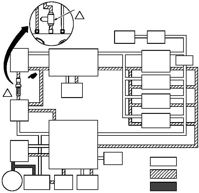 figure 76  primary and utility hydraulic system block diagram